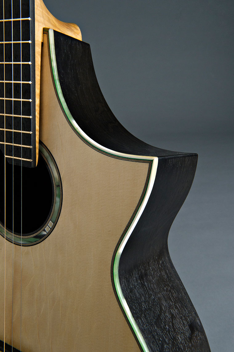 A SERIES Fenland Black Oak Steel String Guitar