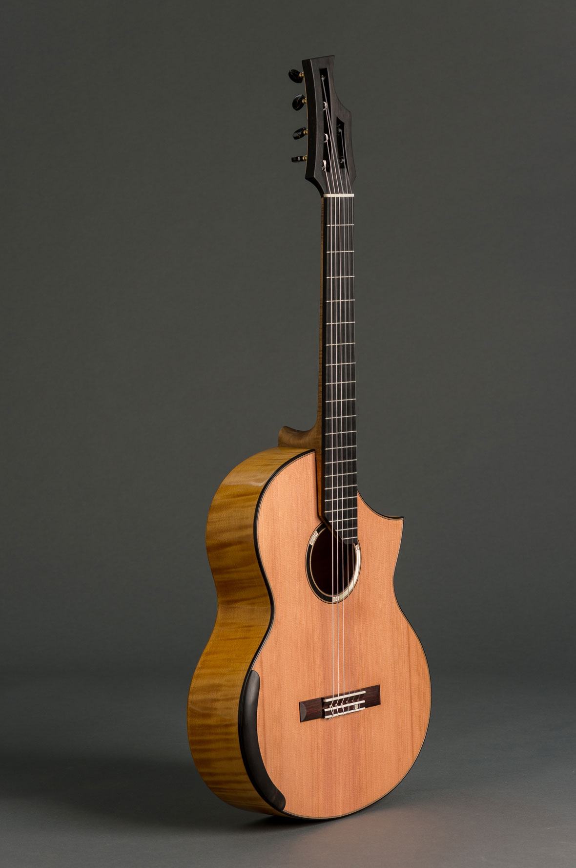 A Series guitar with cedar soundboard and maple back and sides